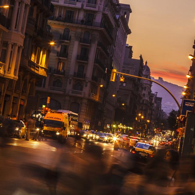 """""""Street in Barcelona"""" stock image"""