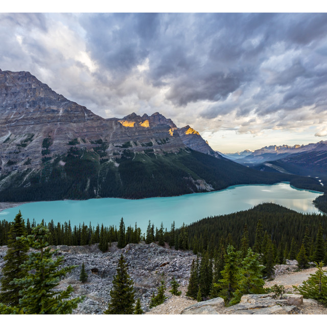 """Peyto Lake Sunset"" stock image"