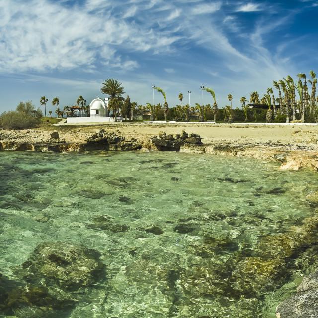 """Nissi beach Cyprus island"" stock image"