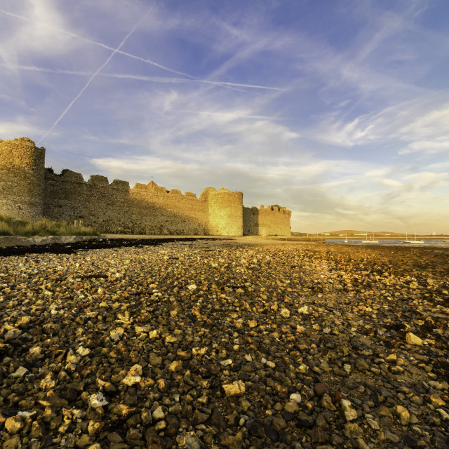 """Portchester Castle"" stock image"