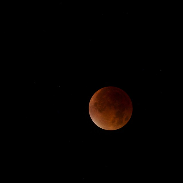 """Moment of Totality, Super Blood Moon"" stock image"