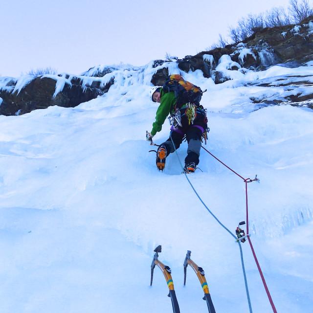"""Iceclimbing"" stock image"