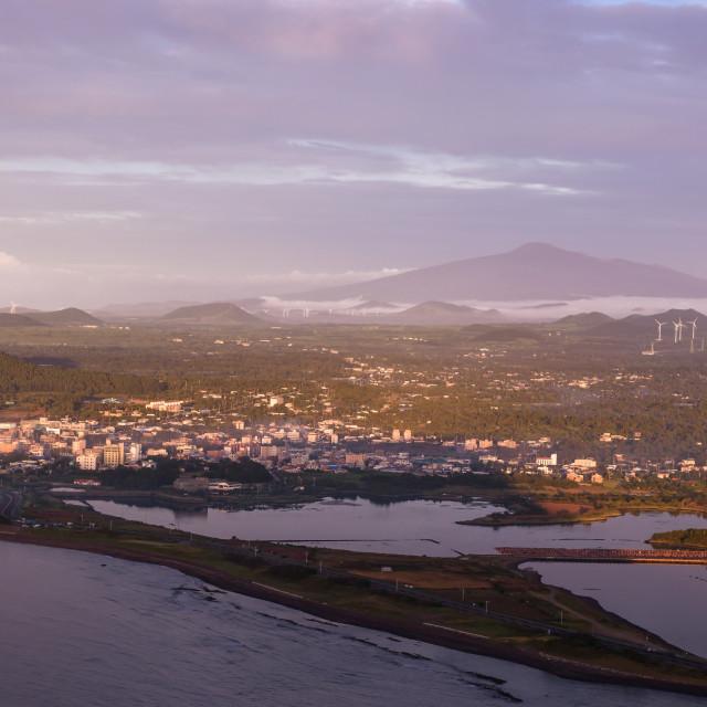 """View from Mt. Halla, Jeju Island"" stock image"