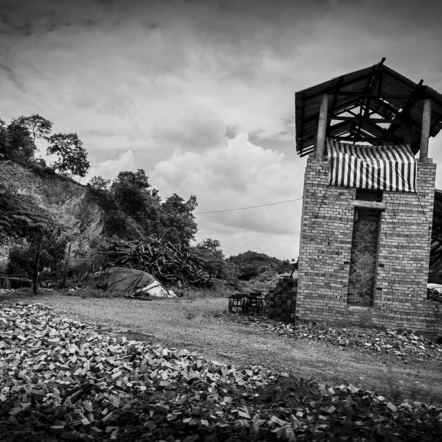 """The old brick manufacturing kiln"" stock image"