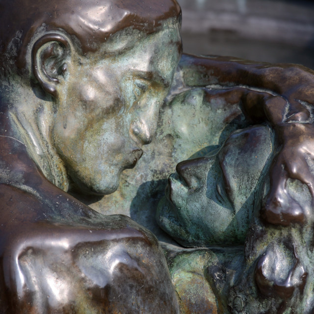 """""""The Well of Life-detail, Zagreb"""" stock image"""