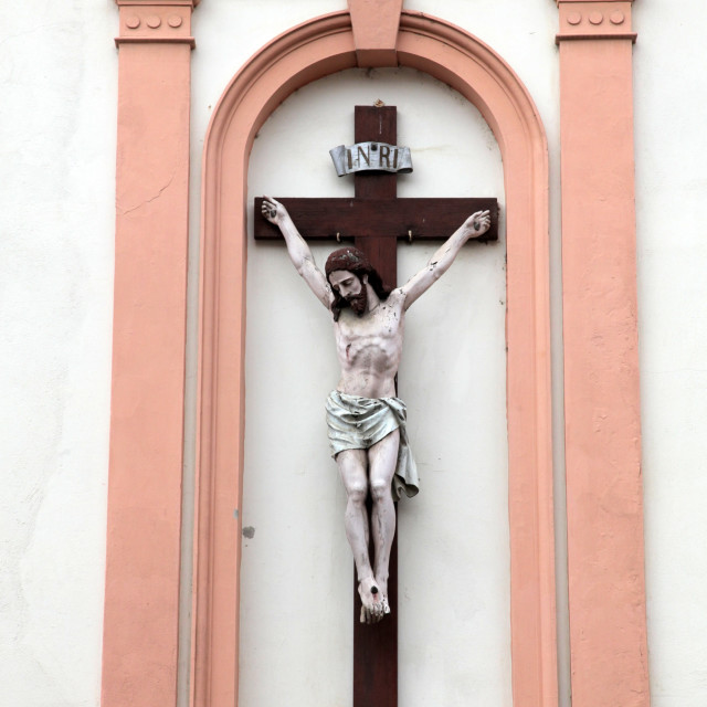"""""""Jesus crucified on the cross"""" stock image"""