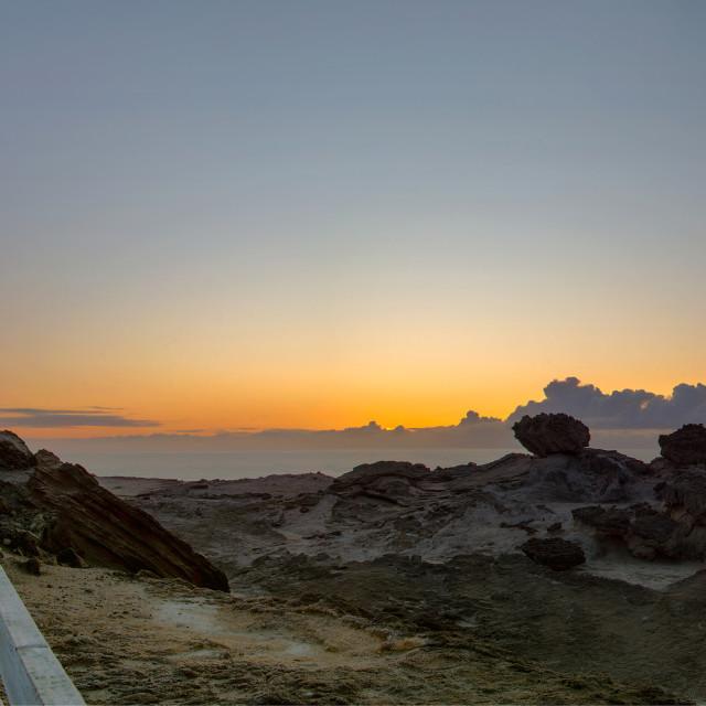 """""""Waiting for Sunrise ..."""" stock image"""