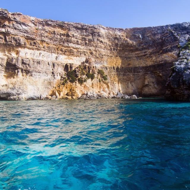 """Comino coast near Malta"" stock image"