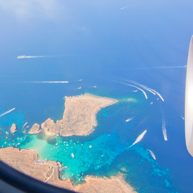 """Blue Lagoon aerial"" stock image"