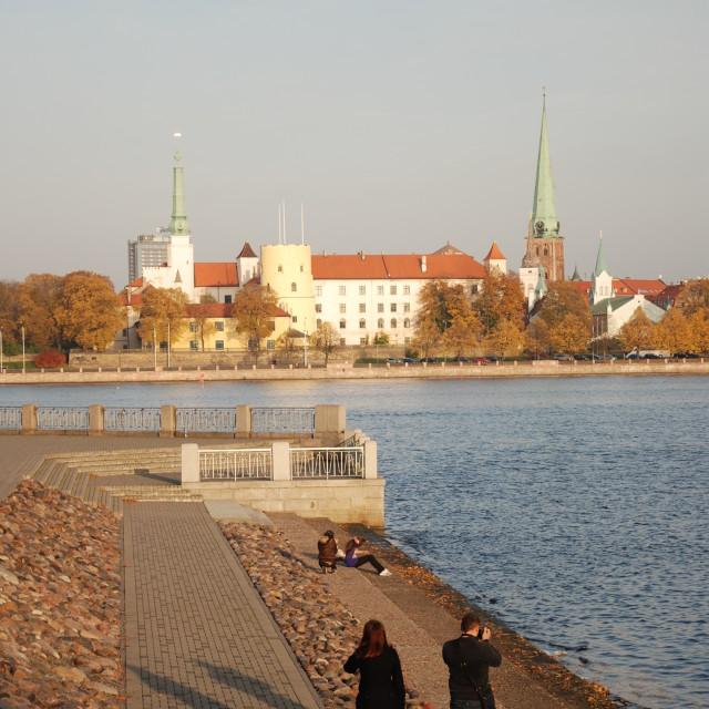 """View of Old Riga, Riga"" stock image"