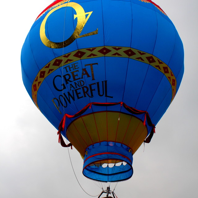 """Hot air balloon with The OZ prints"" stock image"