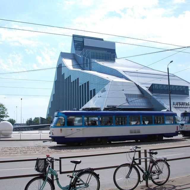 """National Library, Riga"" stock image"