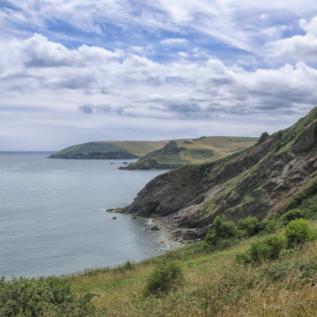 """Devon coastal view"" stock image"