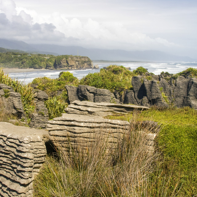 """Pancake rocks"" stock image"