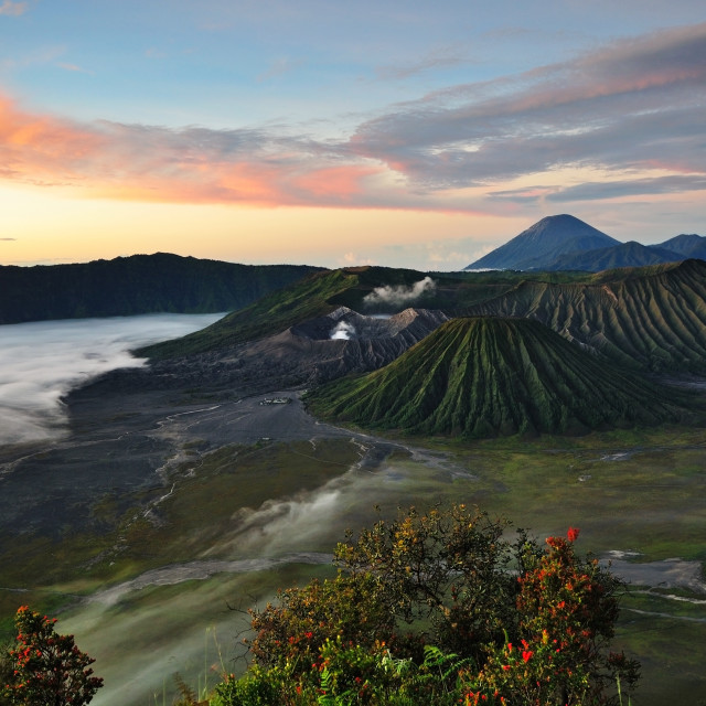 """Sunrise at Mount Bromo, Indonesia."" stock image"