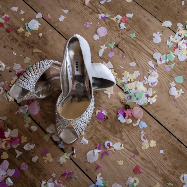 """Brides Wedding Shoes"" stock image"