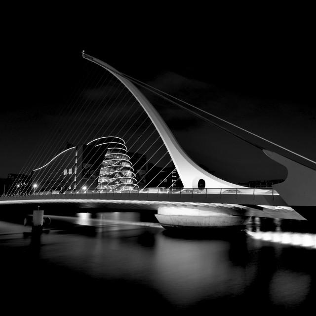 """Samuel Beckett Bridge, Dublin"" stock image"