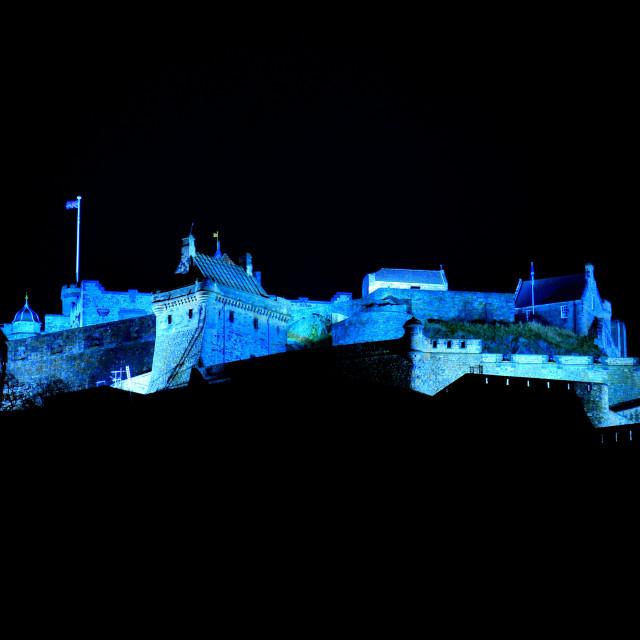 """Edinburgh Castle - Wide Angle"" stock image"