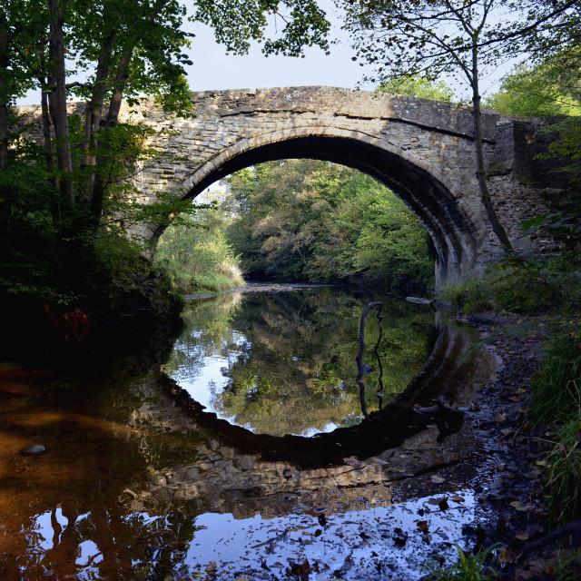 """Bridge at Newbattle, Midlothian, Scotland"" stock image"