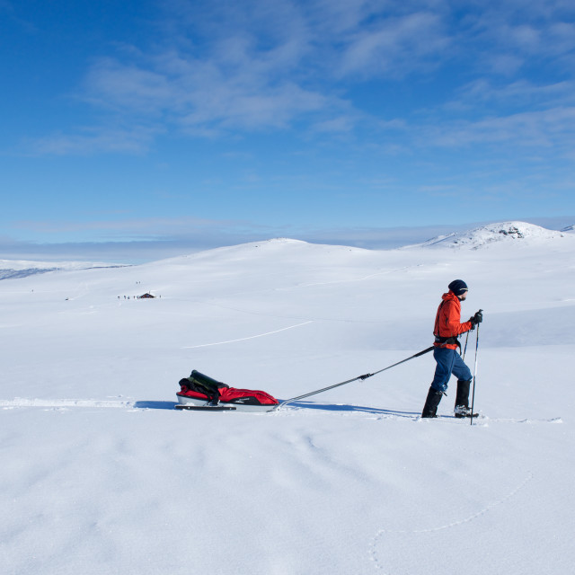 """skiing in the mountains"" stock image"
