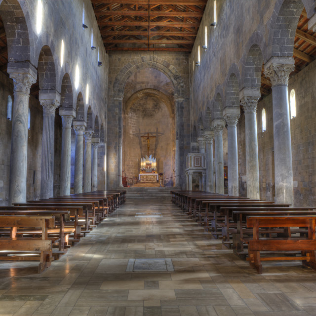 """""""Old Caserta, italian medioeval village : Cathedral"""" stock image"""