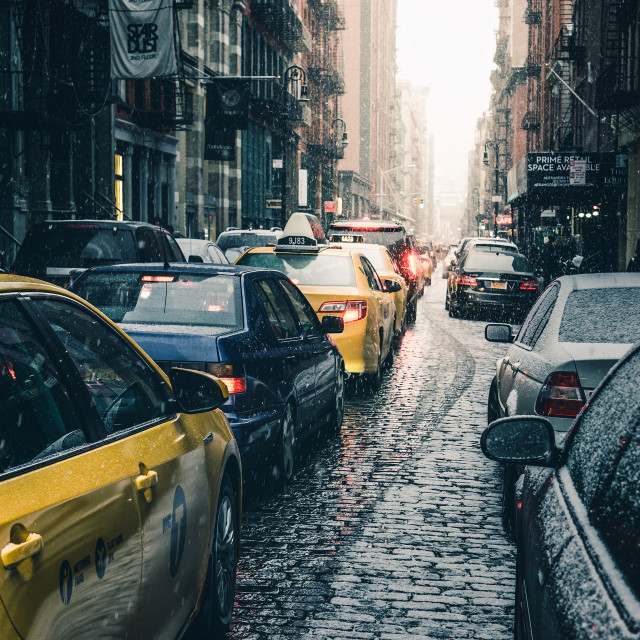 """SOHO Traffic"" stock image"