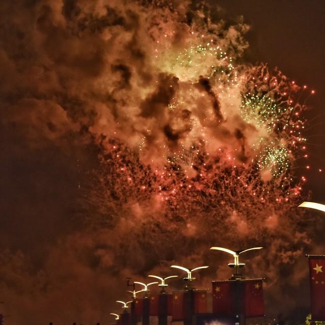 """firework show -1"" stock image"