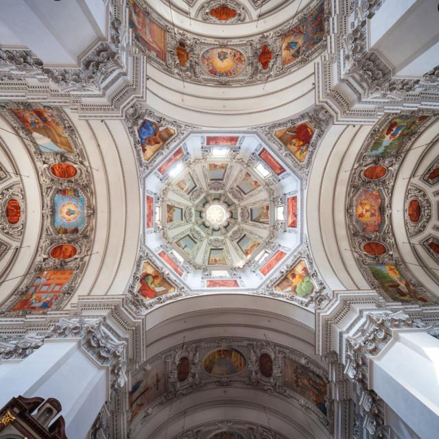 """the interior of Salzburg Cathedral Austria Europe"" stock image"