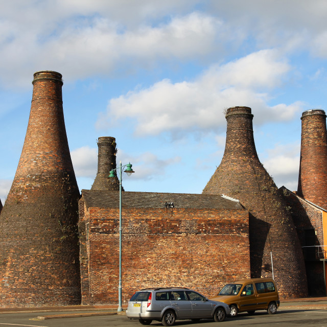 """The bottle ovens or kilns at Gladstone Pottery Museum Stoke-on-Trent Staffordshire"" stock image"
