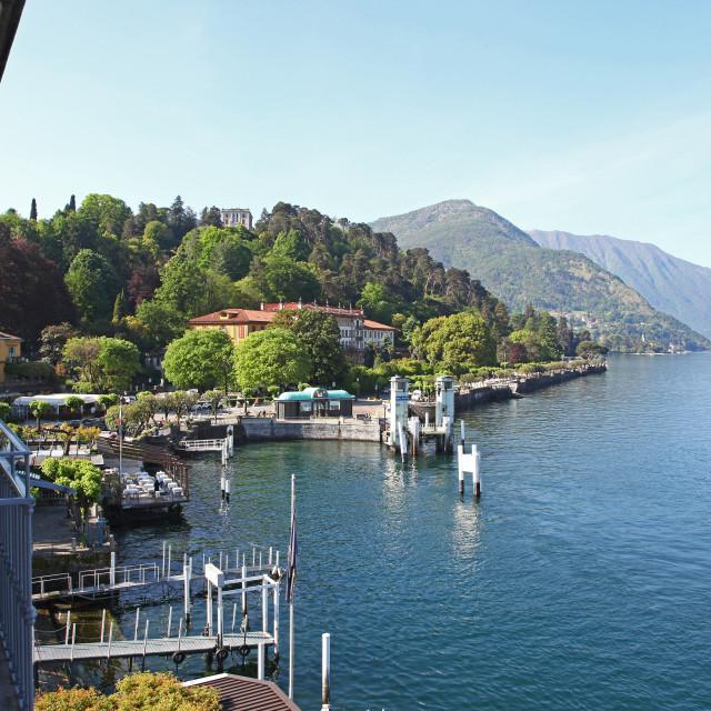 """Bellagio Lake Como Italy Italian region Lombardy"" stock image"