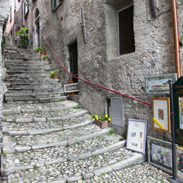 """""""An artists workshop in the Italian village of Varenna, Lake Como Italy"""" stock image"""