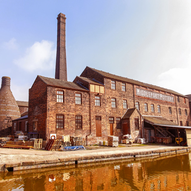 """""""Middleport pottery factory, Stoke-on-Trent, Staffs now owned by The Prince's Regeneration Trust"""" stock image"""
