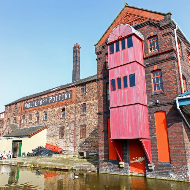 """Burleigh Middleport pottery factory Stoke-on-Trent Staffordshire England UK"" stock image"