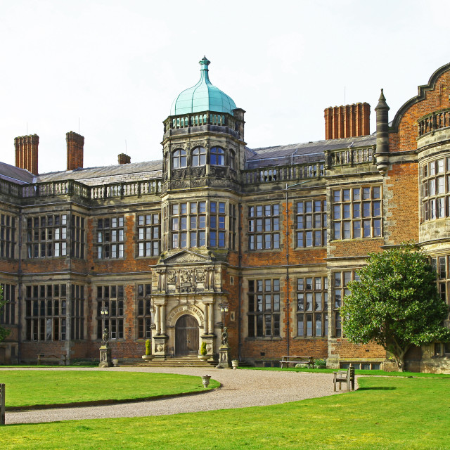 """""""Ingestre Hall 17th century Jacobean stately home Ingestre situated near Stafford Staffordshire England UK"""" stock image"""
