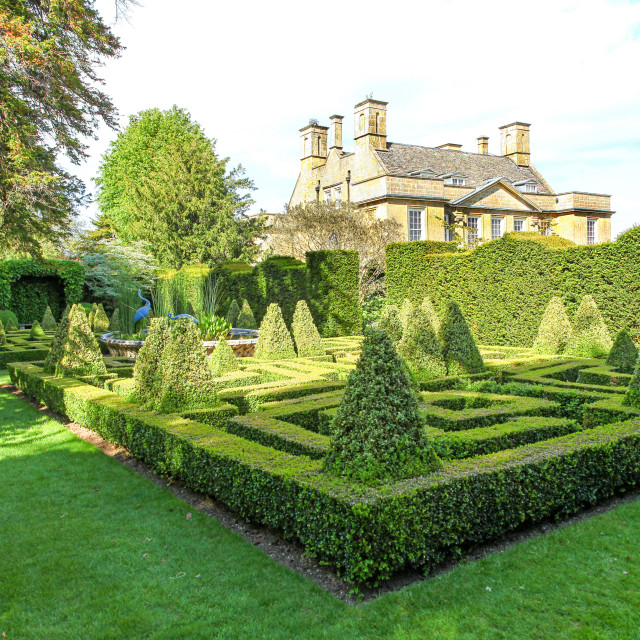 """""""The Knot Garden at Bourton House, Bourton on the Hill, Gloucestershire, England, UK"""" stock image"""