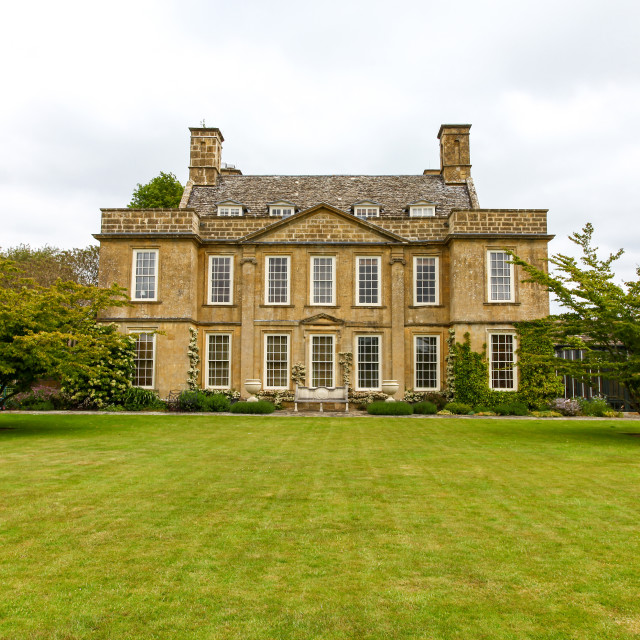 """""""Bourton House, Bourton on the Hill, Gloucestershire, England, UK"""" stock image"""