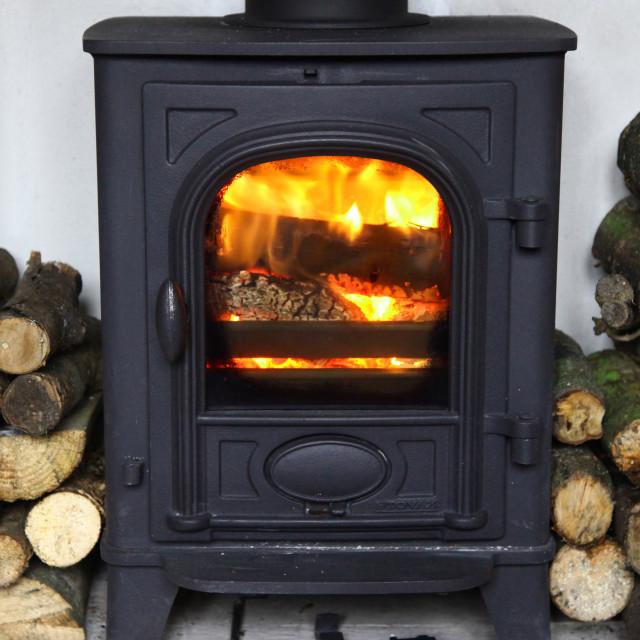 """""""Stovax Stockton 3 log burning stove"""" stock image"""