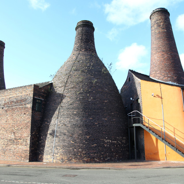 """Bottle ovens or kilns at the Gladstone Pottery Museum Stoke on Trent Staffordshire England United Kingdom UK Great Britain GB"" stock image"