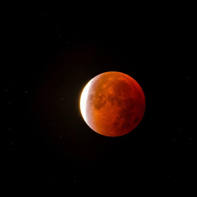 """Lunar Eclipse September 2015"" stock image"