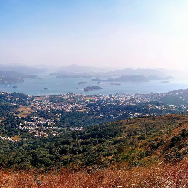 """""""View from Ma On Shan, Hong Kong"""" stock image"""