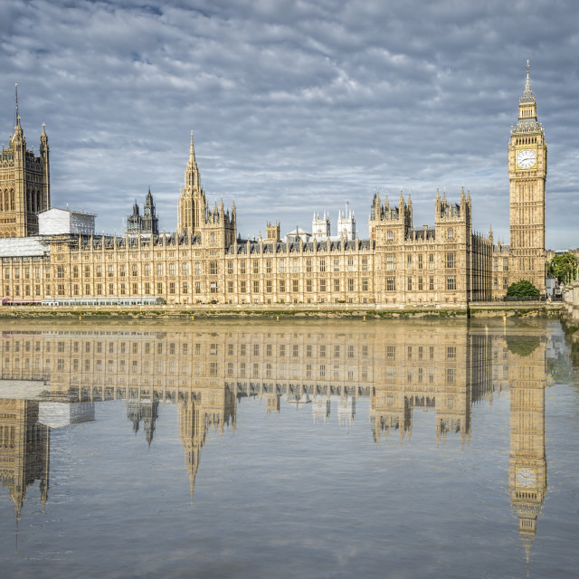 """Big Ben and Parliament Houses from the river"" stock image"