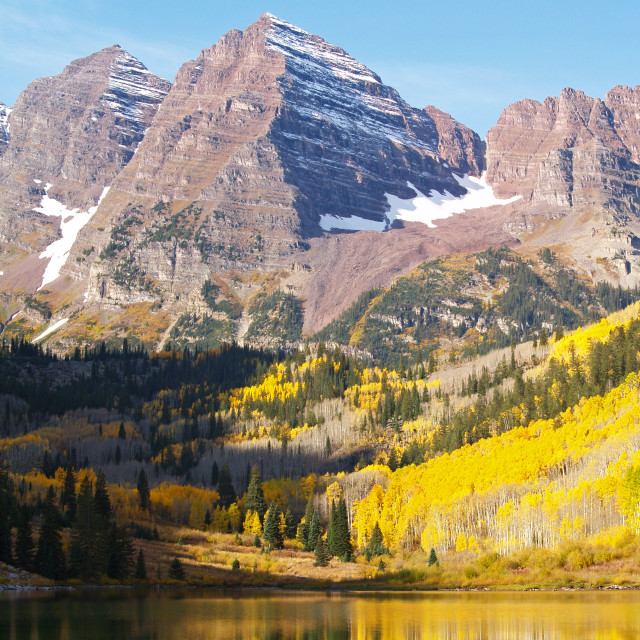 """The Maroon Bells"" stock image"