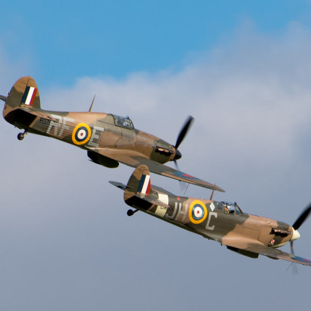 """""""Hurricane and Spitfire Formation"""" stock image"""