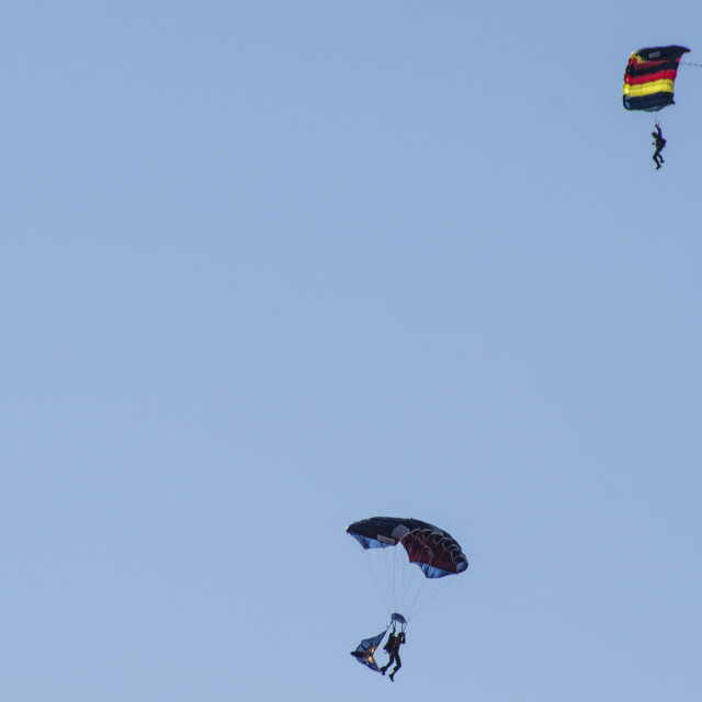 """The Tigers Parachute Display Team"" stock image"