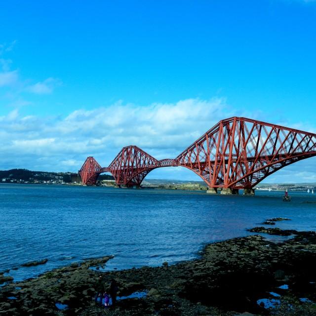 """Forth Bridge Edinburgh"" stock image"