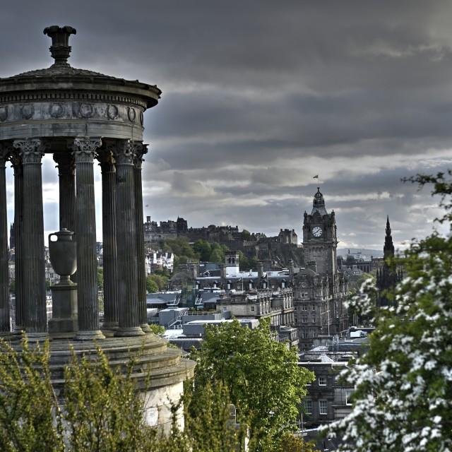 """Classic View of Edinburgh"" stock image"