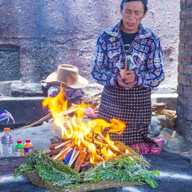 """Mayan Ceremony"" stock image"