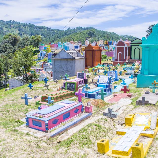 """Chichicastenango cemetery"" stock image"
