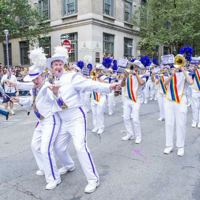 """""""New York gay pride parade"""" stock image"""