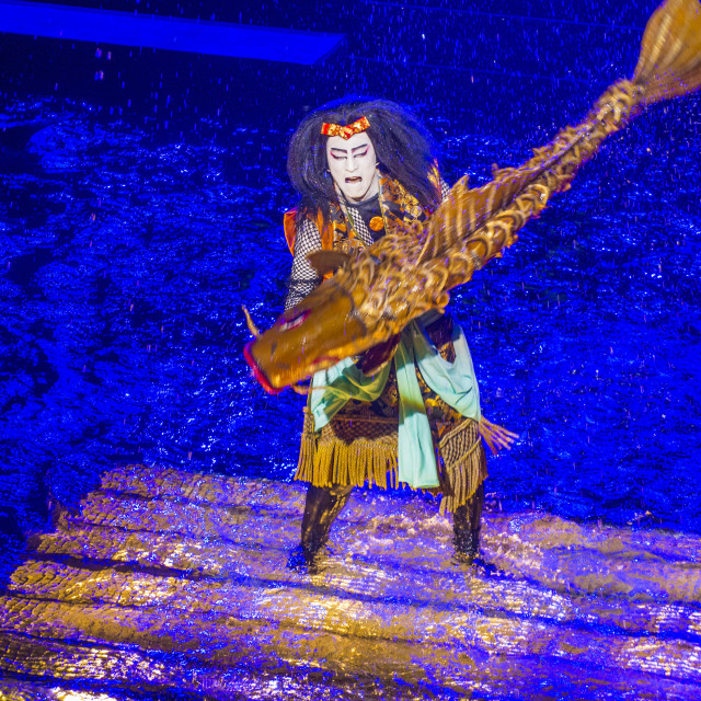 """""""Kabuki spectacle at the Fountains of Bellagio"""" stock image"""